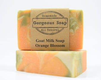 Orange Blossom Goat Milk Soap - All Natural Soap, Handmade Soap, Homemade Soap, Handcrafted Soap