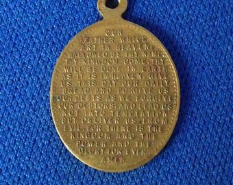 Edwardian Lord's Prayer Bronze Medallion