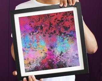 Abstract Frustration Paint Splatters Explosion Framed Art Print ART110
