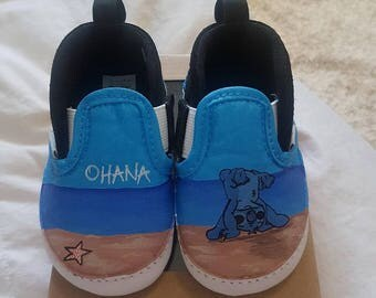 Lilo and Stitch Inspired Custom Painted Shoes Vans/Converse Size Infant 3