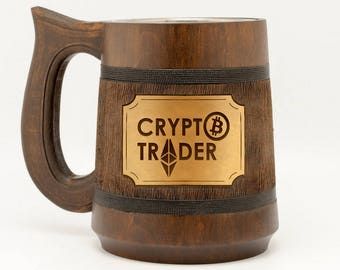 Crypto trader mug Gift for miner Ethereum gift Bitcoin trader Cryptocurrency gifts Crypto mug Bitcoin miner Bitcoin gifts Gift for him