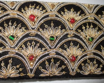 Handmade evening bag with embroidery-1920-1930