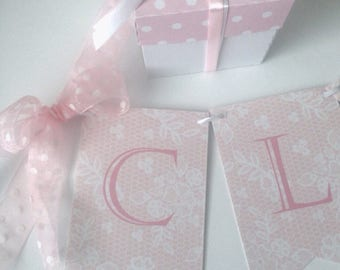 Personalised Lace Bunting