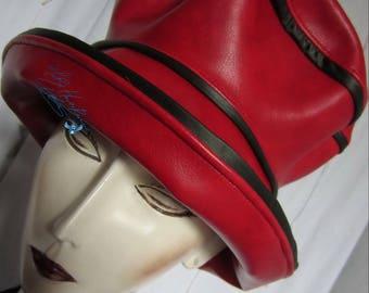 sur-Commande days rain hat red - & - Black styled-chic-eccentric