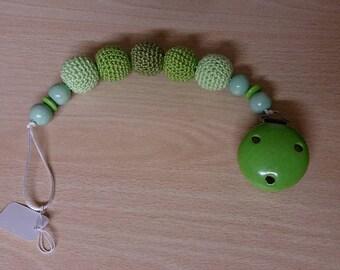 Pacifier cotton, multicolor beads