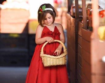 Be My Valentine Adeline maxi dress - valentine dress, girls valentine dress, maxi dress, red dress, red and white polka dots, girls dress