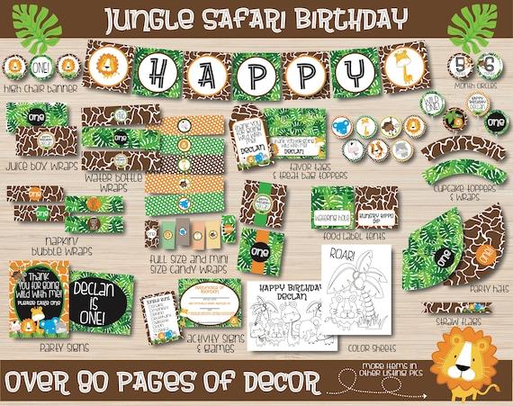 Jungle Safari Birthday Party Decorations Jungle Animals Birthday