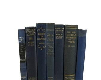 SALE SALE SALE Blue  Vintage & Antique Books ,  Blue Decorative Books , Wedding Prop , Photo Prop , Green Vintage Books , Old Books