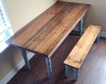 Childrenu0027s Farmhouse Table W/ Bench