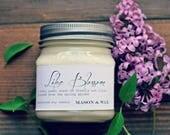 Lilac Blossom Mason Jar Soy Candle