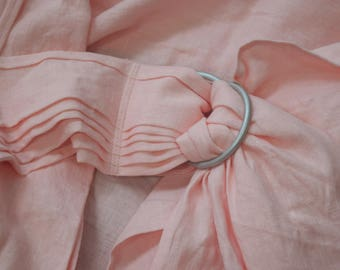 Linen Ring Sling Baby Carrier - Blush Pink