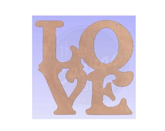 LOVE - Blank - Unfinished Wood Cutout - DIY - Wreath Accent, Door Hanger, Ready to Paint & Personalize