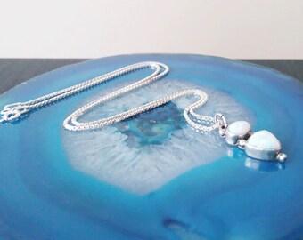 Vintage Opal Sterling Silver Pendant Necklace 925 NG6
