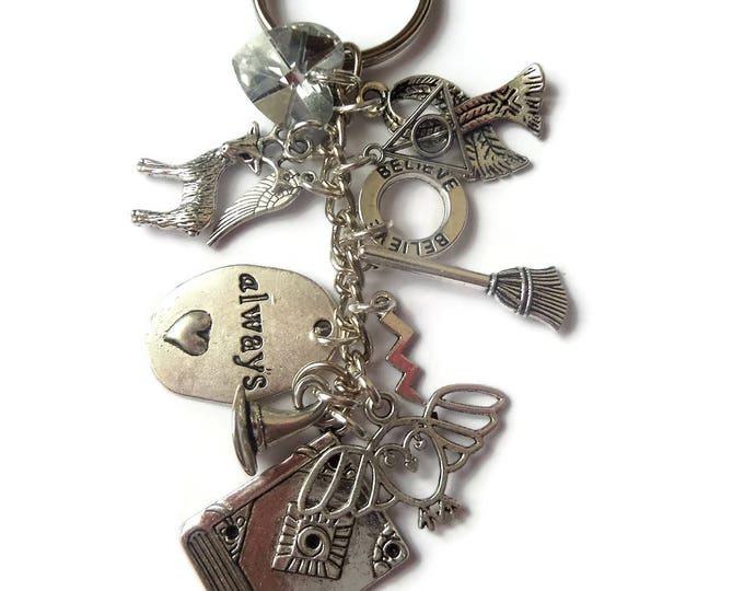wizard keyring, book fan gift, always gift, wizard jewellery, wizard jewelery, fandom gift, always keyring, sandykissesuk