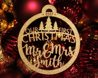 Christmas Ornaments Our First Christmas Ornament First Christmas Gift Ornament Personalized Christmas Ornaments Personalized Wedding Gift 04