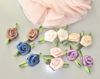 fabric flower flowers x 12