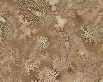 La Scala Taupe Leaf from Robert Kaufman by the yard