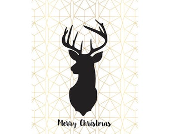 Mixed Metals Christmas Poster - Downloadable Print