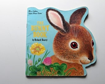The Bunny Book by Richard Scarry A Golden Shape Book 1994