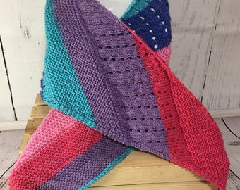 Shawl - Knit Shawl - Knit Wrap - Knit Scarf - Scarf - Wrap - Womens Scarf - Winter Shawl - Womens Shawl - Wrap Shawl - Winter Scarf - Knit