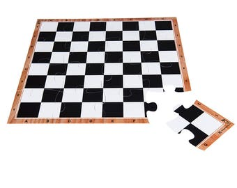 JigChess board - Chess board jigsaw puzzle in standard tournament size - 4x4 - perfect to play or as a gift