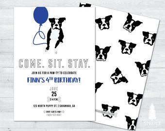 puppy birthday invitation, puppy invitation, puppy party, dog birthday invitation, puppy party invitation, dog birthday party
