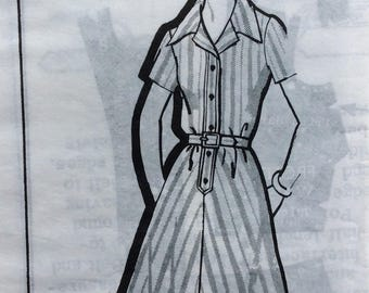 Mail order 1439 vintage 1970's misses shirtwaist dress sewing pattern size 18 bust 40
