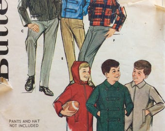 Butterick 2899 boys jacket size 8 vintage 1960's sewing pattern