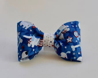 Patriotic Dogs Dog Bow Tie  || Bandana too || Personalized Preppy Bowtie || Custom Gift by Three Spoiled Dogs