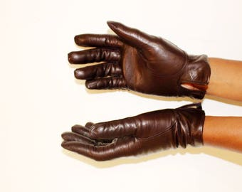 Vintage Winter Gloves, Leather Gloves