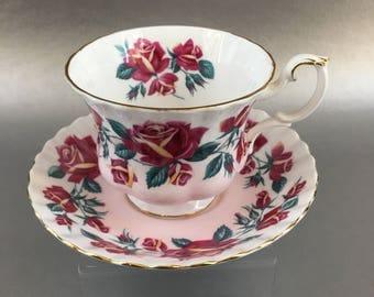 Royal Albert Lakeside Series Windermere Pink Floral Bone China Teacup England