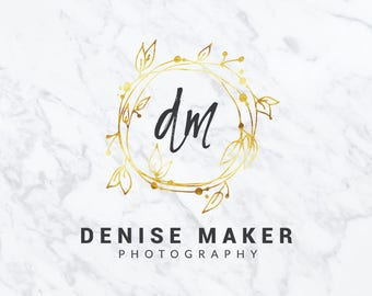 Premade Logo Design | Watercolor Logo Design | Photography Logo | Branding Set | Gold Foil Logo | Custom Logo Design | Marketing Kit | #23