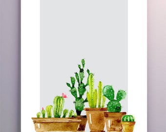 "Image printable high-definition digital ""Gray Cactus"""