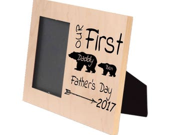 Our First Father's Day Photo Frame