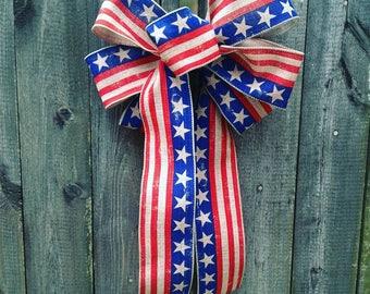 Patriotic Handmade Bow