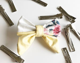 Baby Girl Vintage Laura Ashley Bow Clip