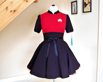 star trek cosplay dress ,Trekkie dress , fandom dress