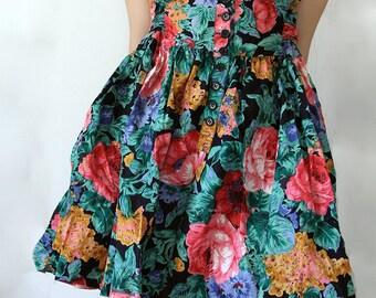 Short Floral Print Dress