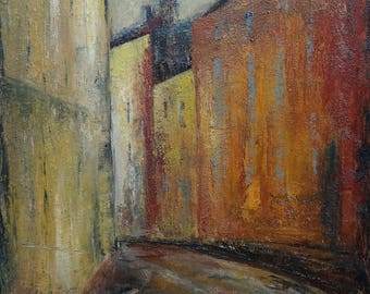 "Oil on Canvas 3D Géraldine Theurot ""Stockholm"", original artwork"