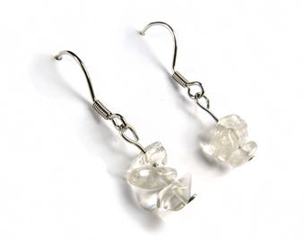 Rock crystal jewelry, Clear quartz earring, clear crystal jewelry healing crystal stone jewelry rock crystal earring clear quartz jewel Ahin