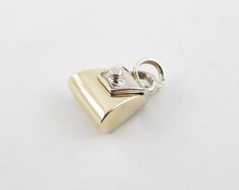 14k Yellow Gold Pocketbook Pendant, 14k Gold Purse Charm, Handbag Charm