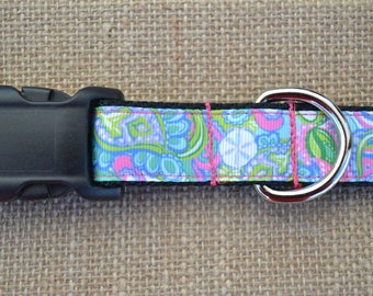 Lilly Pulitzer Inspired Conch Republic Dog Collar