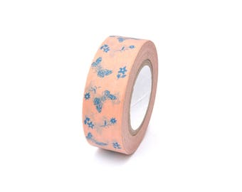 Masking tape butterflies and flowers