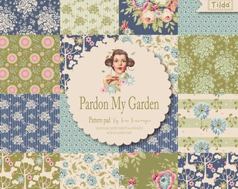Bloc de feuilles motifs fleurs scrapbooking Pardon Tilda