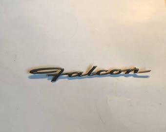 ORIGINAL FORD 1964 Falcon LOGO Fender Emblem Ornament Script Open Letters