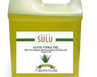 7 lbs 100% Pure and Organic All Natural Aloe Vera Oil