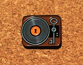Music enamel pin, enamel pin badge, record player pin badge, vinyl enamel pin, vinyl, record pin, music lover, music is the key to life.