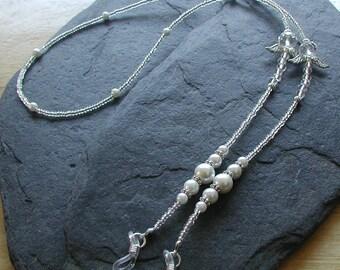 """Celtic Angel"""" Glass Beads Handmade Glasses Chain Spectacles Holder"""