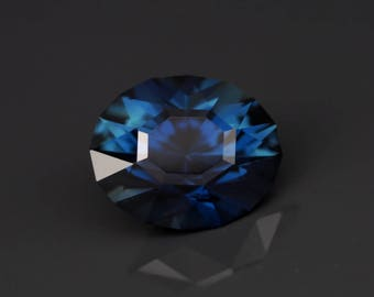 Natural Australian Blue Sapphire. 1.40 ct. Oval cut. Natural loose gemstone. Precision faceting.