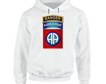 Army - 82nd Airborne Division - Ssi - Ranger Wo Txt Hoodie